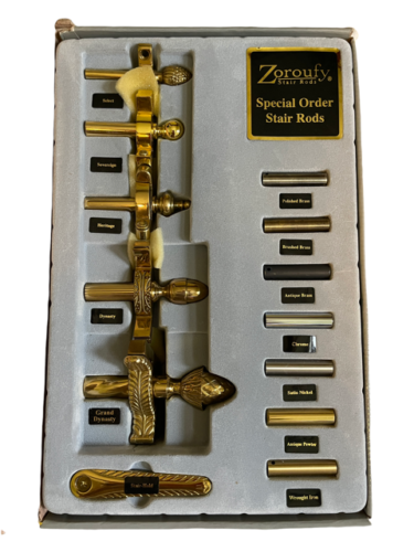 Zoroufy Stair Rods Special Order Brass Stair Rod Sample Set Box