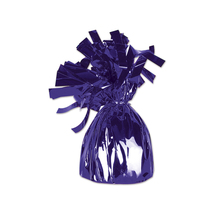 Beistle Party Decoration Metallic Wrapped Balloon Weight 6 Oz Purple Pac... - £19.50 GBP