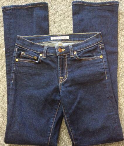 Anthropologie J BRAND Jeans Straight 805 Ink Dark Wash Low Rise Size 24 Women's image 2