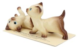 Hagen Renaker Specialty Cat Siamese Kittens - 2 Piece Ceramic Figurine Set image 3