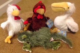Lot of Webkinz (4) Pelican, Chicken, Rooster & Gecko - Brand New with Ta... - $11.40