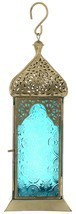 Utsav Kraft Metal Lanterns (30 cm x 10 cm x 10 cm, Light Blue) - $627,27 MXN