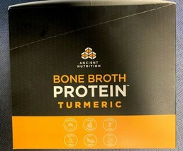 Ancient Nutrition Bone Broth Protein Turmeric Single Serve 15 Packets BB... - $10.39