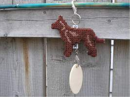 Australian Kelpie dog crate tag or home decor, hang anywhere, handmade p... - $17.00