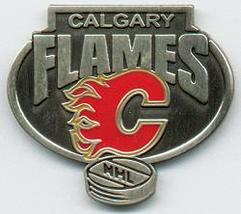 NHL Licensed Pin Calgary Flames Pewter Pin - $5.00