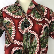 Royal Creations Hawaiian Shirt Mens Large Lei Outrigger Tropical Made In... - $19.79