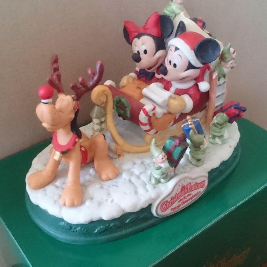 Primary image for Tokyo Disneyland 1996 Christmas Fantasy Mickey Minnie Sled Figure Ornament Doll