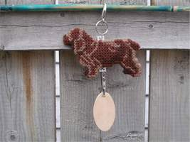 Sussex Spaniel dog crate tag, handmade kennel a... - $19.00