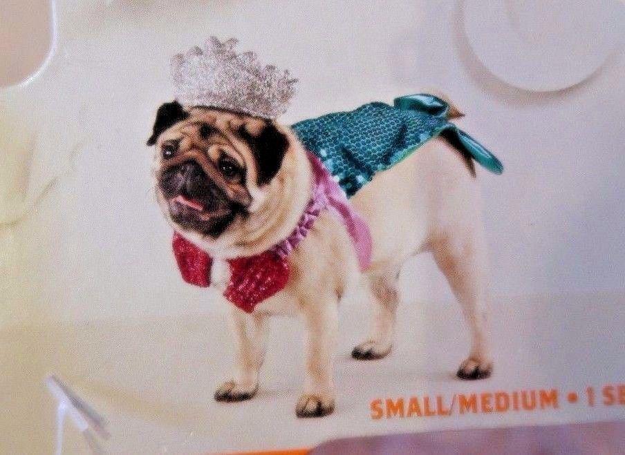 Little Mermaid dog pet sparkle sequin halloween costume size SMALL / MEDIUM