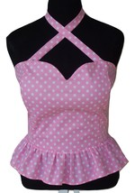 Sexy Broadway PinUp Style Peplum Top/Criss Cross Halter-Retro/Rockabilly... - $35.00+