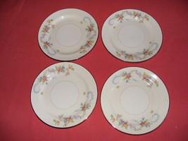 "4 Homer Laughlin Dubarry 6 1/8"" Bread Plates Eggshell Nautilus - $29.95"
