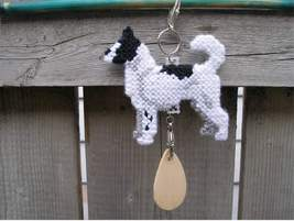 Canaan Dog crate tag or home decor, hang anywhere, handmade pet art by a... - $19.00