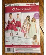 Simplicity 8283 American Girl Pattern for Girls Dress Child's Sizes 3-8 - $6.99