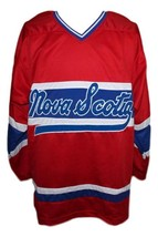 Guy carbonneau nova scotia voyageurs retro hockey jersey red  1 thumb200