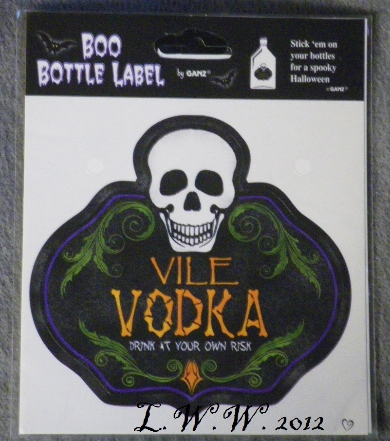 1 Vile Vodka Potion Bottle Drink Wine Beer Beverage Soda Pop Label