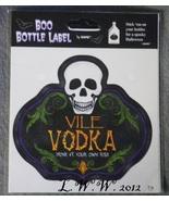 1 Vile Vodka Potion Bottle Drink Wine Beer Beverage Soda Pop Label - $1.50