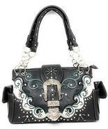 Premium Western Rhinestone Concealed Carry Buckle Floral Womens Shoulder... - $36.62