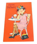 Happy Birthday Ladies Vintage American Greetings Card Glitter Cupcake Ca... - $4.95