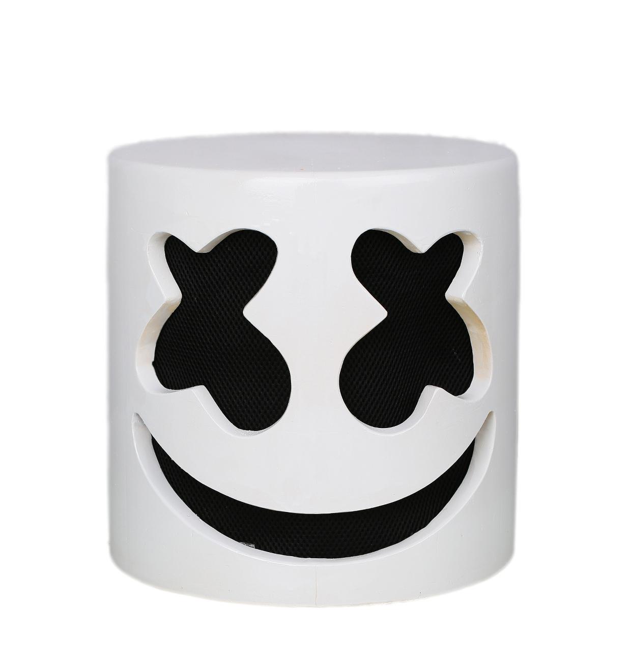 XCOSER Marshmello Helmet Full Head Latex Mask Marshmello Cosplay Mask