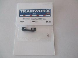 Trainworx Stock #180-2 Snowplow Common Slope Top ATSF Blue N-Scale- image 3