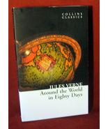Jules Verne Around World Eighty 80 Days Classic Collins Fiction PB FREE ... - $14.48
