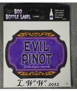 1 Evil Pinot Potion Bottle Drink Wine Beer Beverage Soda Pop Label - $1.50