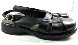 Dansko Black Leather Slingback Sandals Womens size 42 Closed Toe Shoes 1... - $69.95