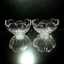 "2 (Two) MIKASA ICICLES Cut Lead Crystal Bowls 5"" DISCONTINUED PATTERN - $21.84"