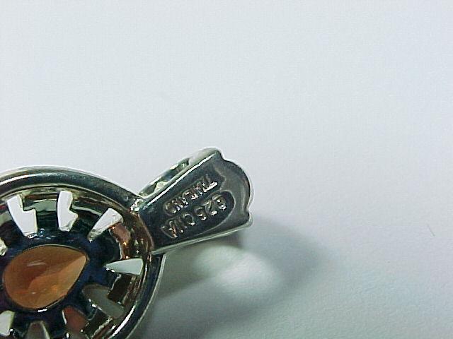 Genuine Oval-Cut GARNET PENDANT in Sterling Silver