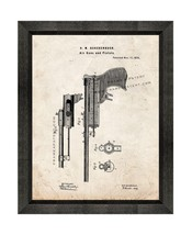 Air Guns And Pistols Patent Print Old Look with Beveled Wood Frame - $24.95+
