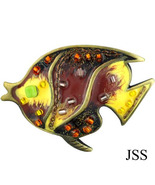 Colorful Flounder Fish Brooch Lapel Pin - $8.00