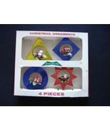 Vintage Jewelbrite Plastic Christmas Ornaments Rare Flat Ones with Box V... - $37.39