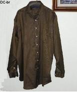 Daniel Cremieux Size XXL Brown Long-Sleeve Shirt - $9.99