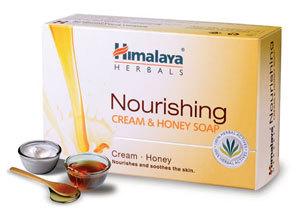 Himalaya Nourishing Cream & Honey Soap 125g for skin moisturizing and repairing.
