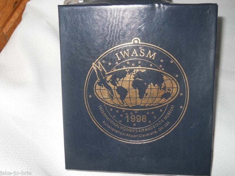 IWASM International Womens Air And Space Museum Cleveland Ohio Ornament 1998 Box