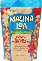 HONEY ROASTED MAUNA LOA MACADAMIA NUTS 6 / 11 OZ BAGS - $94.95