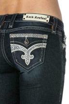 Rock Revival Women's Premium Skinny Dark Denim Jeans Woven Pants Isiah S image 4