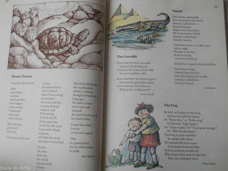 Set of 2 Color RANDOM HOUSE Book of Poetry 572 poems Bedtime Stories Children HC