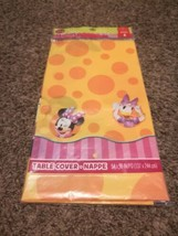WALT DISNEY Minnie Mouse Plastic Tablecover Table Cover Tablecloth -  54... - $7.66