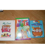 Set of 3 Children Baby Bible First Study Book Young Readers Illustrated ... - $22.49