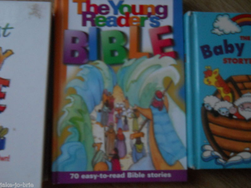 Set of 3 Children Baby Bible First Study Book Young Readers Illustrated Stories