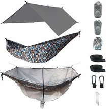 The Ultimate 3 in 1 Camo Camping Hammock RainFly Bundle with Fully Detac... - $68.75