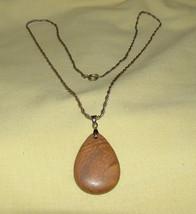 Sandstone Tear Drop Pendant Necklace - $14.00