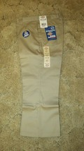 "DICKIES Girls Junior Khaki Uniform Capri Sz 9 Boot Cut Waist 32"" x Ins 2... - $14.80"