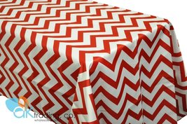 AK-Trading Chevron TableCover, Red L'Amour Satin Chevron TableCloth - Red - $19.75