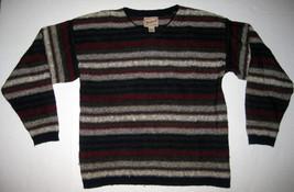 Vintage Woolrich Mens Medium Striped Wool Blend V-Neck Sweater Red Beige... - $1.006,30 MXN