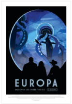 NASA Visions of the Future Europa Poster - $39.00