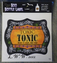 1 Toxic Tonic Potion Bottle Drink Wine Beer Beverage Soda Pop Label - $1.50
