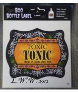1 Toxic Tonic Potion Bottle Drink Wine Beer Beverage Soda Pop Label - $1.50