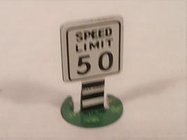 VINTAGE 1940S 50S MINIATURE TIN LITHO 50 MPH SPEED LIMIT SIGN - $24.30